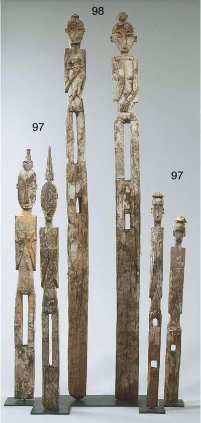 TWO DAYAK POST FIGURES