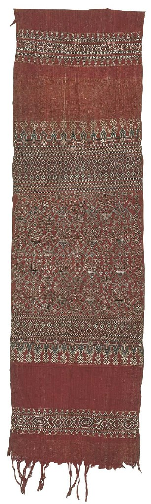 TWO IBAN COTTON CEREMONIAL HAN