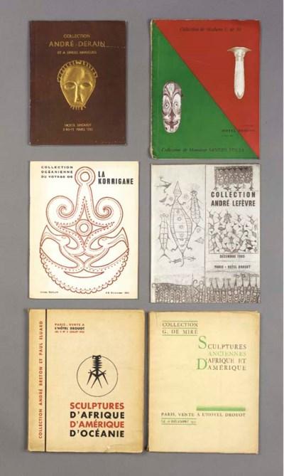 Seven Paris auction catalogues
