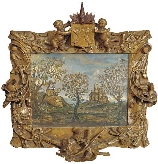 A Dutch limewood frame