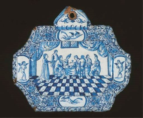 A Dutch Delft blue and white d