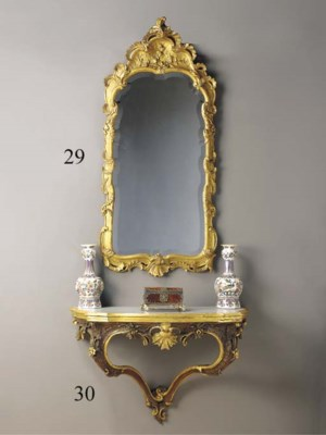 A Dutch parcel-gilt and staine