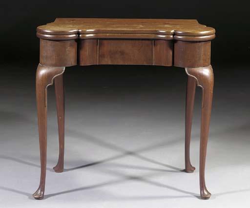 A Dutch mahogany games table