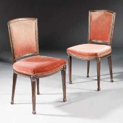 A pair of Dutch mahogany side