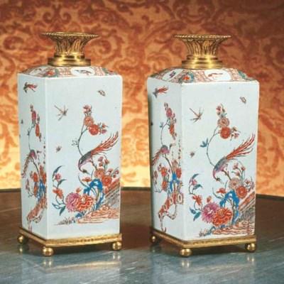 A pair of Japanese Dutch-decor