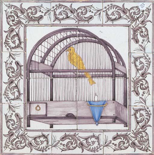 An Utrecht canary cage tile pi