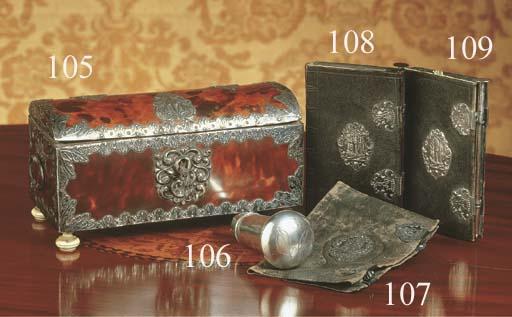 A Dutch silver cane handle ins