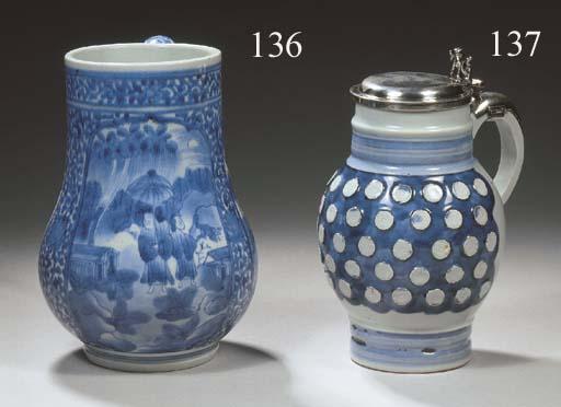 A rare Japanese Arita blue and