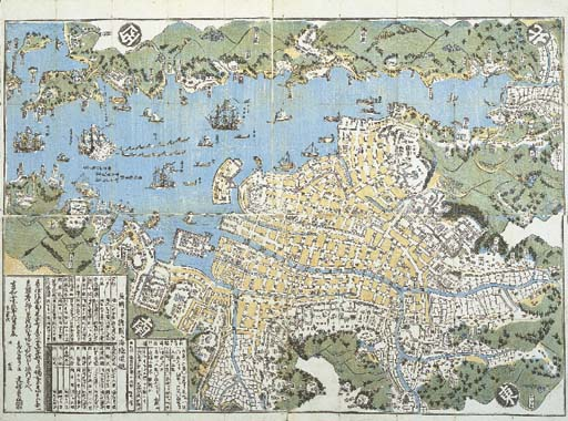 A woodblock printed map of Nag