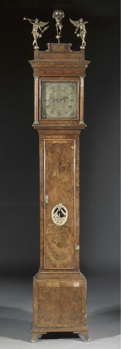 An English figured walnut longcase clock