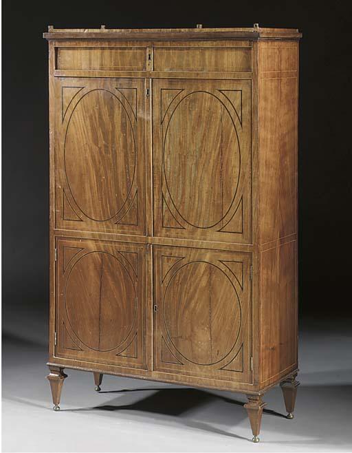 A Dutch mahogany secretaire a