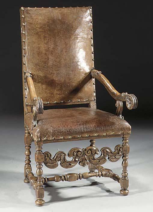 A Flemish walnut armchair