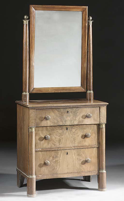 A Dutch mahogany dressing-tabl
