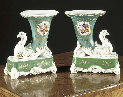 A pair of Jacob Petit style Pa