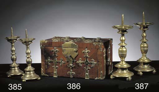 A pair of Flemish brass pricke