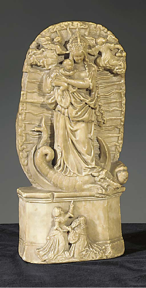 An alabaster relief of the Vir