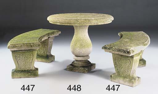A limestone garden table