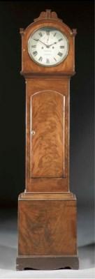 An Irish mahogany longcase clo
