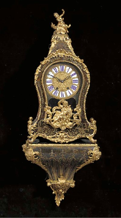 A French ormolu-mounted brass-
