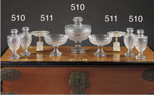 A Baccarat-style cut-glass sev