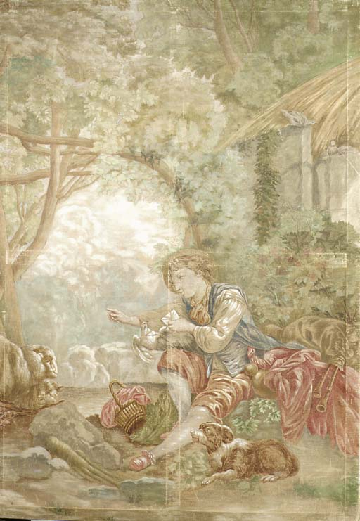 A tapestry cartoon