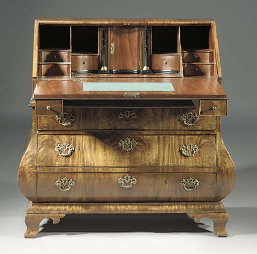 A Dutch mahogany secretaire