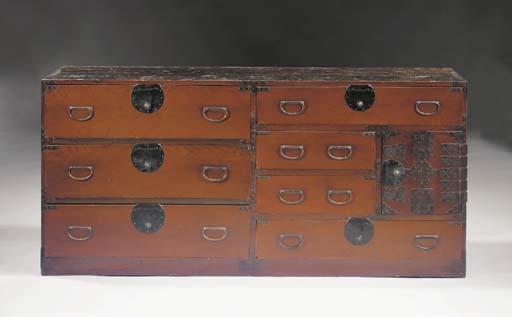A Keyaki wood clothes chest, T