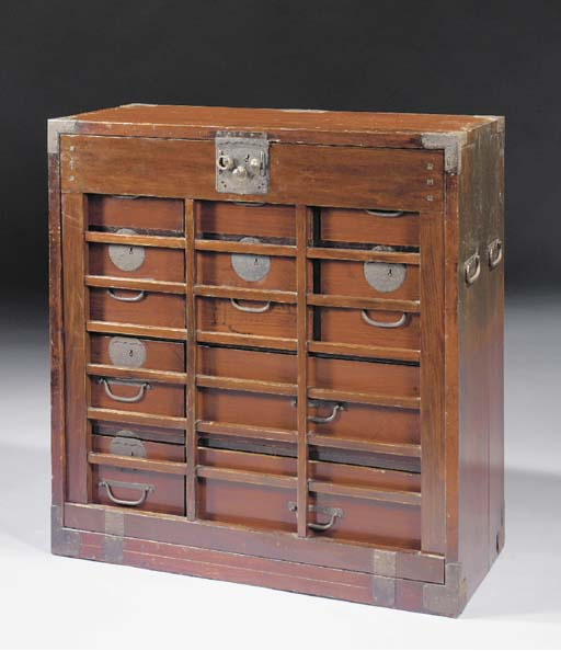 A Keyaki wood clothes chest, T