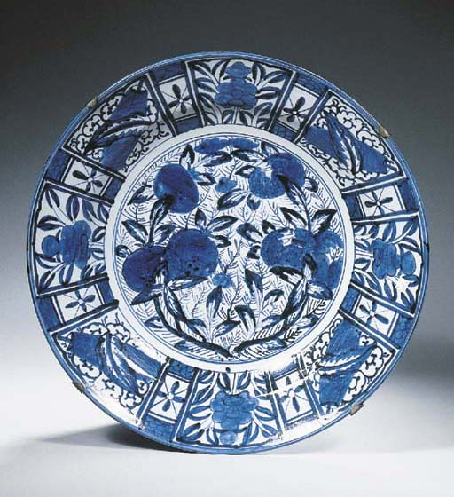 A large Arita blue and white c