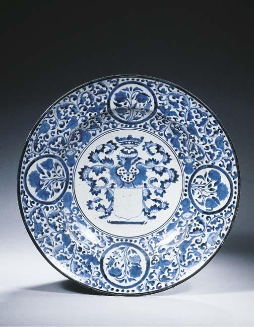 An Arita blue and white armori