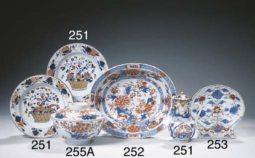 An Imari bowl and cover