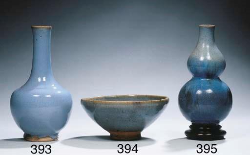 A Junyao double gourd vase