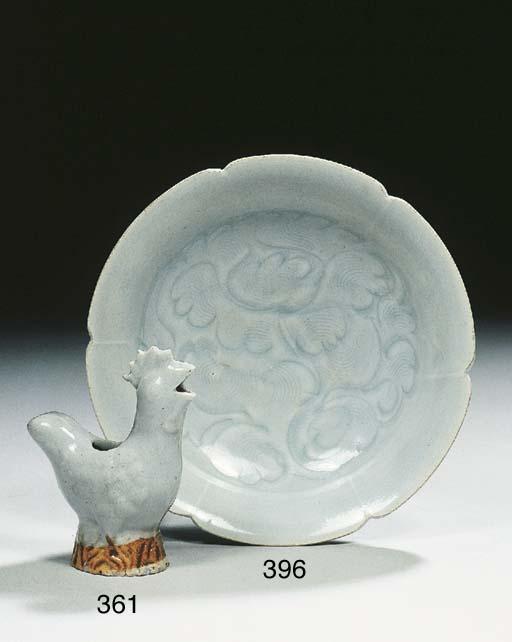 A carved Qingbai saucer dish