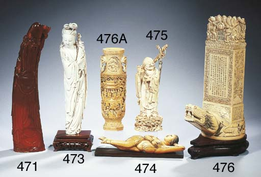 A collection of ivory carvings