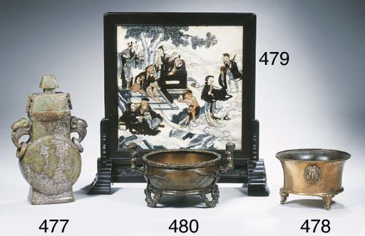 A painted Yunan marble table s
