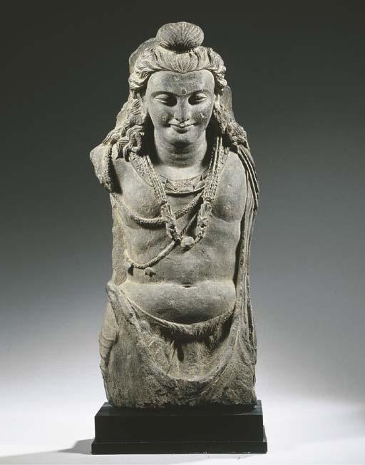 a gandhara grey schist stone b
