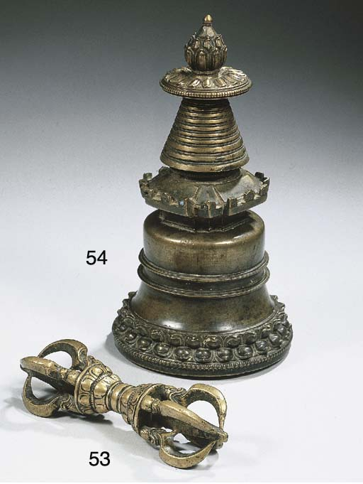 a tibetan bronze diamond scept
