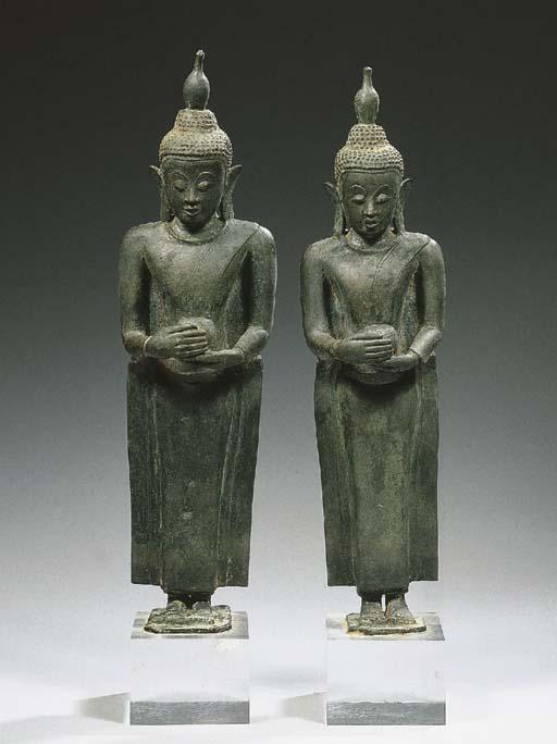 a pair of burmese, shan style,
