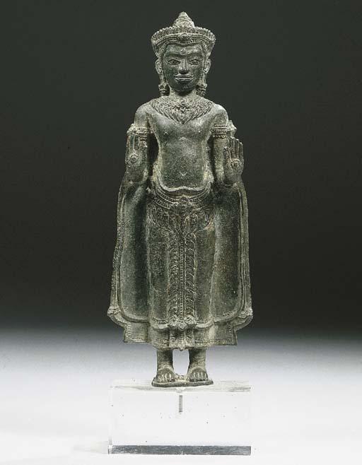a khmer-lopburi style, bronze