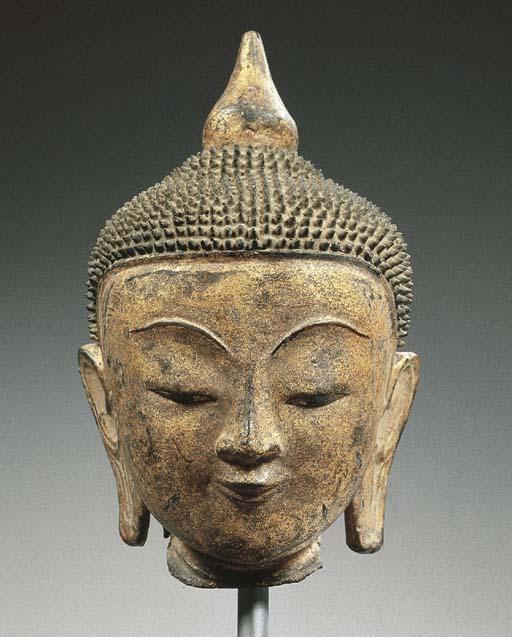 a burmese, shan style, gilt-la