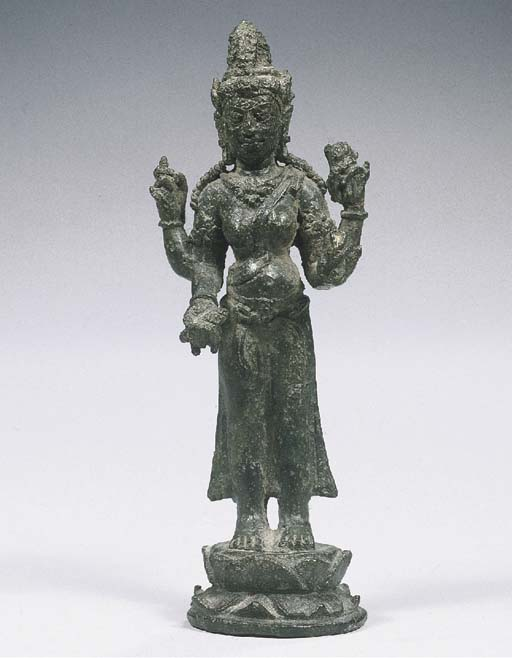 a javanese bronze figure of pa