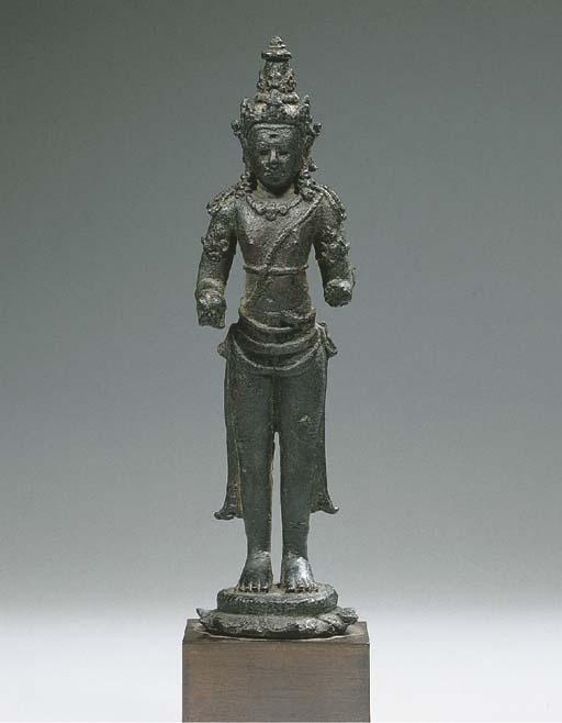 a javanese bronze figure of vi