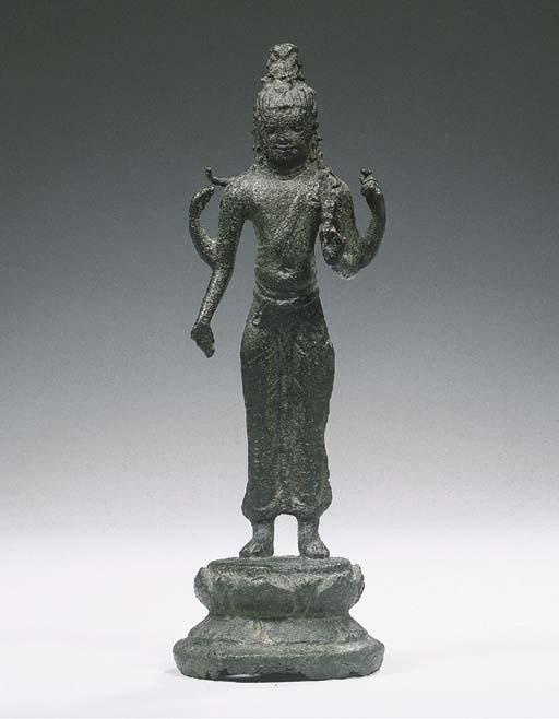 a shrivijaya bronze figure of