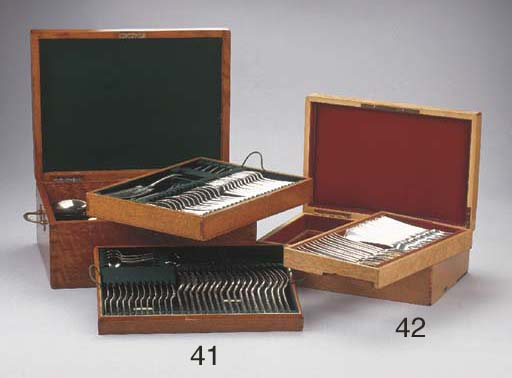 An oak case with twenty-four D
