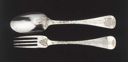 A historical Dutch silver tabl