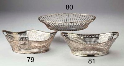 A Dutch silver breadbasket