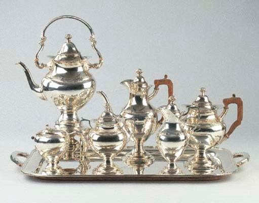 A Portugese silver tea and cof