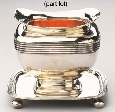 A Dutch silver brazier, a bowl