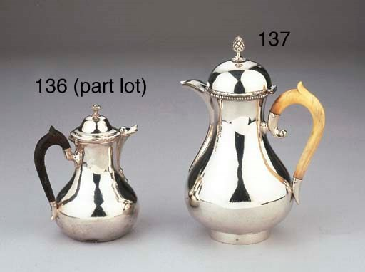 A small French silver jug and
