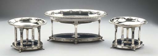 Three German silver jardiniere